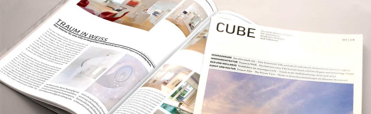 LOTOS Innenarchitektur - Sabine Weber - CUBE Artikel - Villa in Weiß